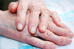 Long life. Old hands of elderly woman Stock Photography