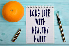 Long life with healthy habit Stock Images