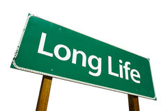 Long Life road sign isolated on white. Stock Images