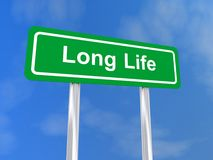 Long life sign Stock Photography