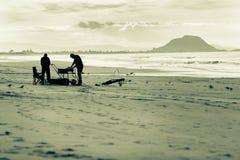 Long line fishermen Stock Images