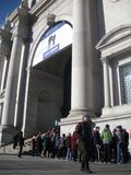 American Museum of Natural History, Waiting in Line, NYC, NY, USA Stock Images