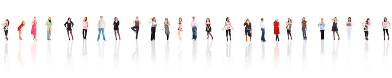 Long line of people Royalty Free Stock Photography