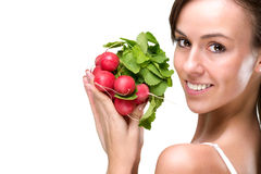 Long live healthily, eating good foods Stock Image