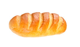 Long loaf bread  on white background Stock Photography