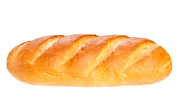 Long loaf bread  on white background Royalty Free Stock Images