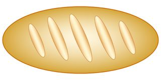Long loaf icon. Illustration of the long loaf icon Royalty Free Stock Photo