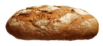 Long loaf isolated on white Stock Photo