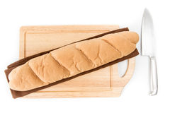 Long loaf isolated Stock Photo