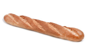 Long loaf isolated on white Royalty Free Stock Photos
