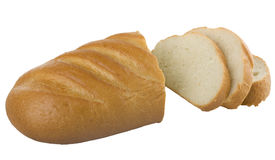 Long loaf sliced bread Royalty Free Stock Photos
