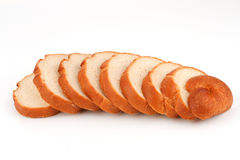 Long loaf sliced bread. Royalty Free Stock Image
