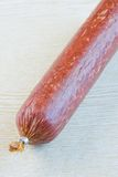 Long loaf the smoked sausage Stock Images