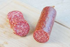 Long loaf the smoked sausage Royalty Free Stock Image