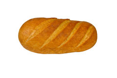 Long loaf of the soft baked white tommy Stock Photos