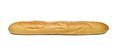 Long loaf on a white background. Royalty Free Stock Image