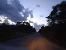 Long lonely dirt road beautiful nature shot royalty free stock image
