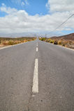 Long Lonely Road Stock Image