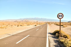Long Lonely Road Royalty Free Stock Photos