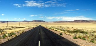Long lonely road Royalty Free Stock Images