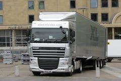 Long lorry in Edinburgh Stock Photos