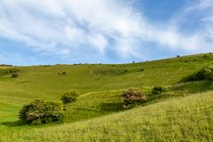 The Long Man of Wilmington in East Sussex royalty free stock images