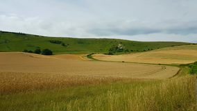 The Long Man of Wilmington is a hill figure on the steep slopes of Windover Hill near Wilmington, East Sussex, England royalty free stock photography