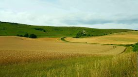 The Long Man of Wilmington is a hill figure on the steep slopes of Windover Hill near Wilmington, East Sussex, England. It is 6 miles & x28;9.7 stock photography