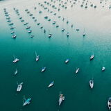 Long marina. Boats in a marina in key West Florida Stock Photography