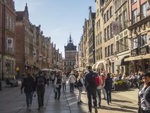 Long Market in Gdansk Stock Photography