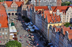 The long market and Green Gate in Gdansk Stock Images
