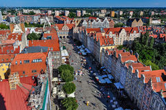 The long market and Green Gate in Gdansk Royalty Free Stock Photography