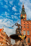 Long Market Street with Town Hall, Gdansk, Poland Stock Photo