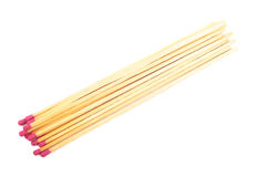 Long matches isolated. Royalty Free Stock Photos