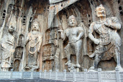 Long men Grottoes Royalty Free Stock Image