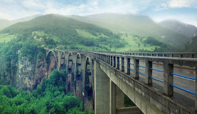 Long mountain Bridge Royalty Free Stock Images