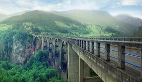 Long mountain Bridge Royalty Free Stock Images