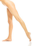 Long naked woman legs Royalty Free Stock Images