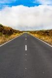 Long narrow road scenery royalty free stock photo