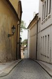 Long narrow street Stock Image