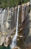 Long narrow waterfall; Yosemite Valley Stock Image