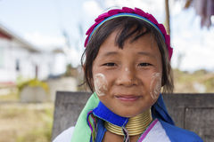 Long-Neck Child, Myanmar stock image