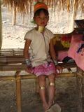 Long neck girl. Royalty Free Stock Photos