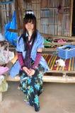 Long neck Karen tribe lady. A beautiful long neck Karen tribe lady of Thailand Royalty Free Stock Photography