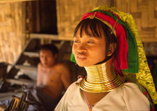 Long neck Karen woman royalty free stock photos
