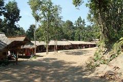 Long neck tribe village Stock Photo