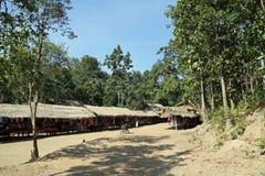 Long neck tribe village Stock Image