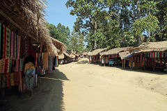 Long neck tribe village Stock Photo