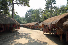 Long neck tribe village Stock Image