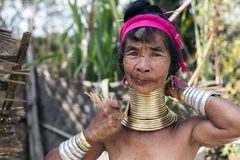 Long-Neck Woman, Myanmar Royalty Free Stock Photography